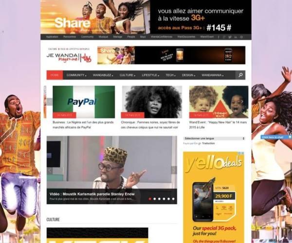 Site web de JE WANDA MAGAZINE