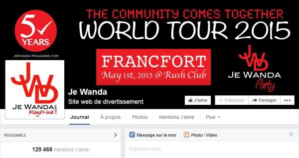 Page Facebook de JE WANDA MAGAZINE