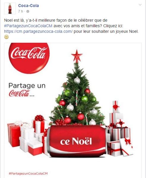 Coca Cola Cameroun Page Facebook