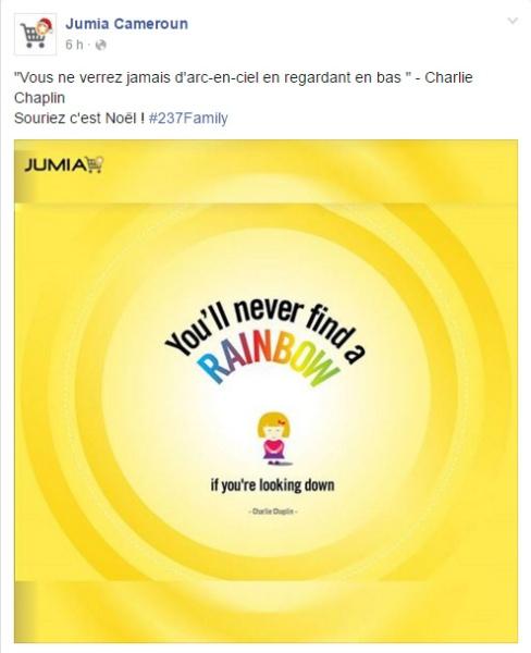 Jumia Cameroun Page Facebook