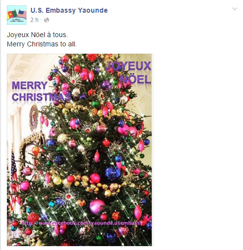 US Embassy Cameroon Page Facebook