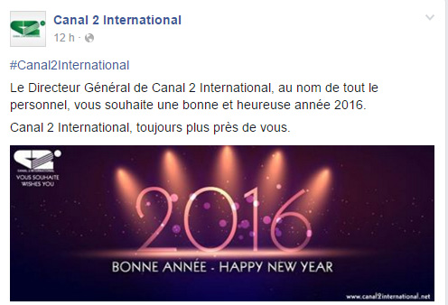 Canal 2 International Page Facebook