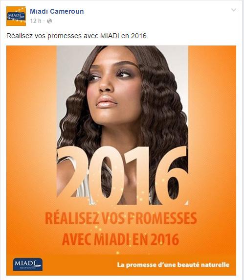 MIADI Cameroun Page Facebook