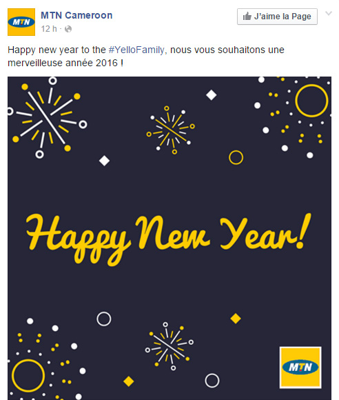 MTN Cameroon Page Facebook
