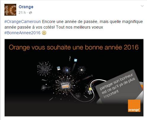 Orange Cameroun Page Facebook