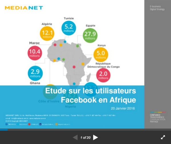 Utilisateurs Facebook Afrique 2016 2
