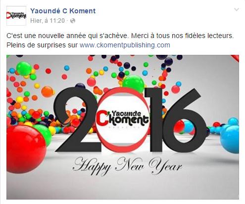 Yaoundé CKoment Page Facebook