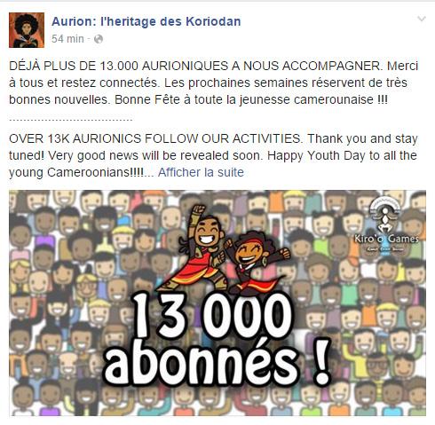 Page Facebook Aurion