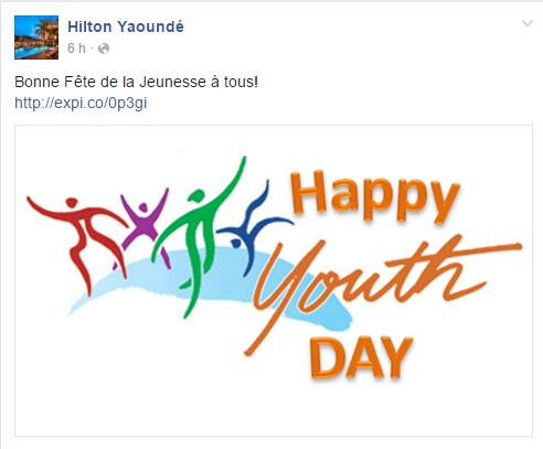 Page Facebook Hilton