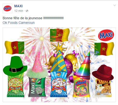 Page Facebook MAXI