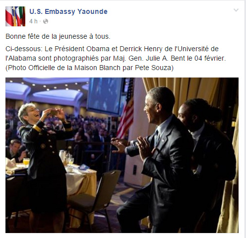 Page Facebook  US Embassy Cameroon