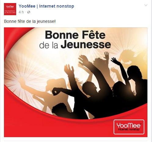 Page Facebook Yoomee