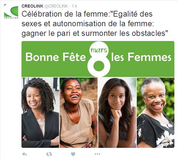 Compte twitter Creolink