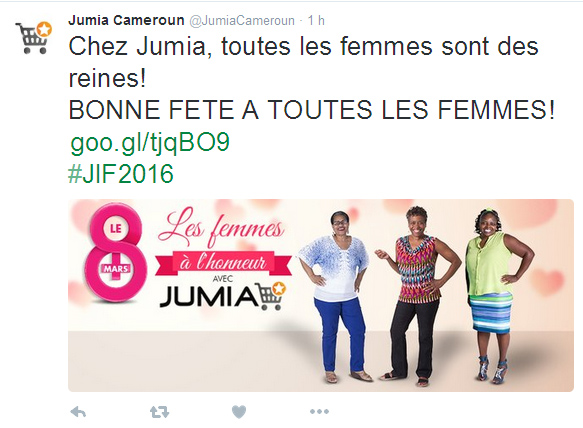 Compte twitter Jumia