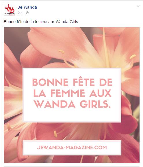Page Facebook Je Wanda Magazine