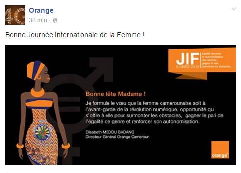 Page Facebook Orange Cameroun