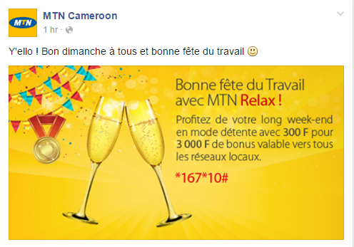 Page Facebook MTN Cameroon