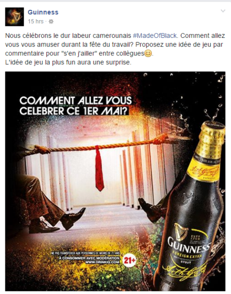 Page Facebook GUINESS