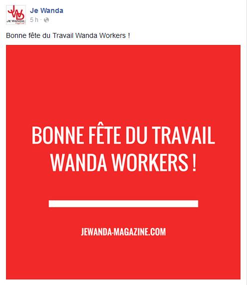 Page Facebook JE WANDA