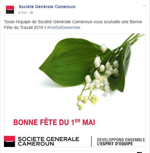 Page Facebook SOCIETE GENERALE
