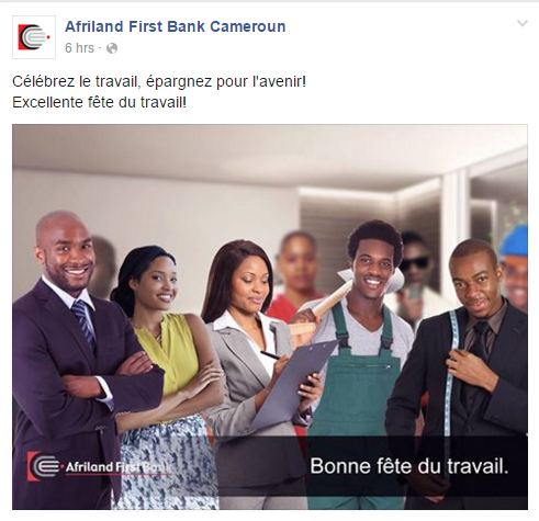 Page Facebook AFRILAND FIRST BANK CAMEROUN
