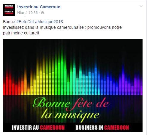 Community Managers Cameroun Fête de la musique 2016 2