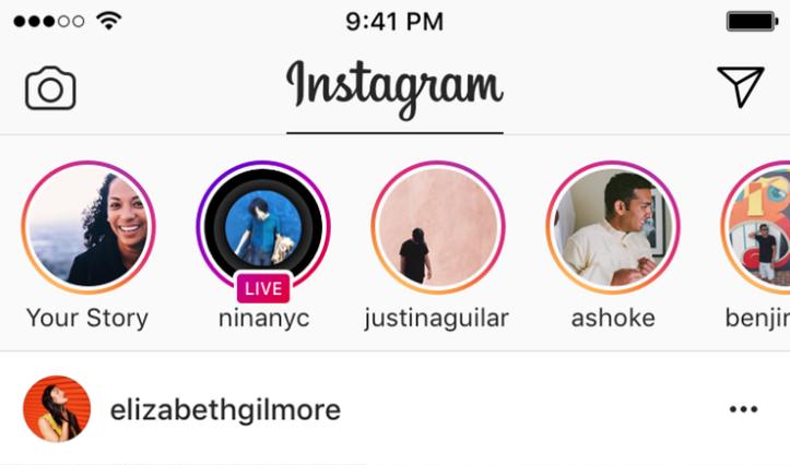 Instagram Stories Newsfeed