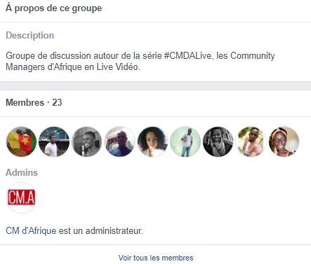 Groupe Facebook CM d'Afrique