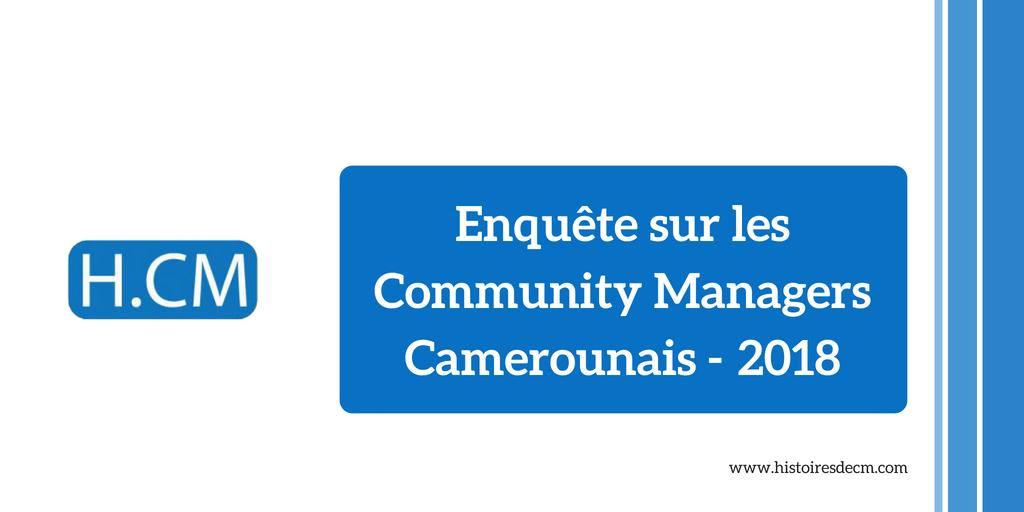 Enquête sur les Community Managers au Cameroun : Les chiffres2018