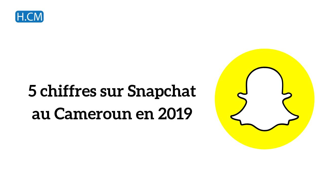5 chiffres sur Snapchat au Cameroun en 2019