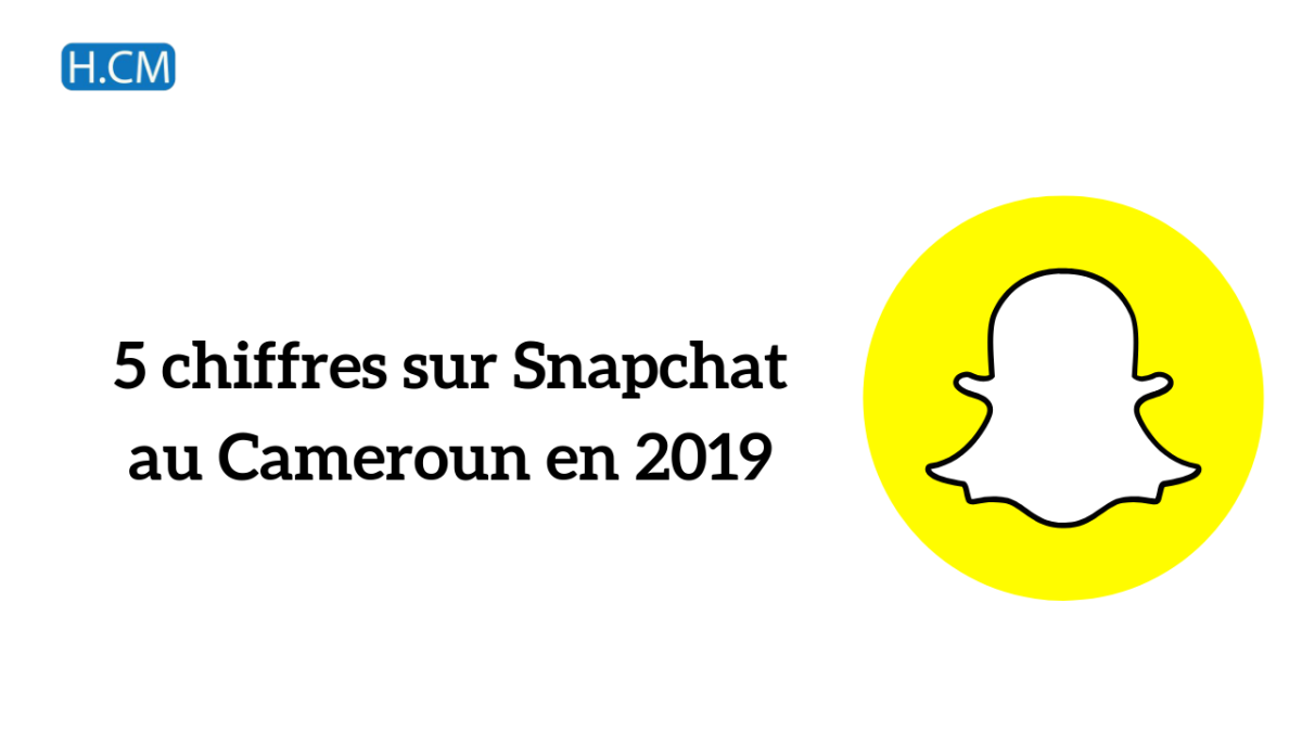 5 chiffres sur Snapchat au Cameroun en2019