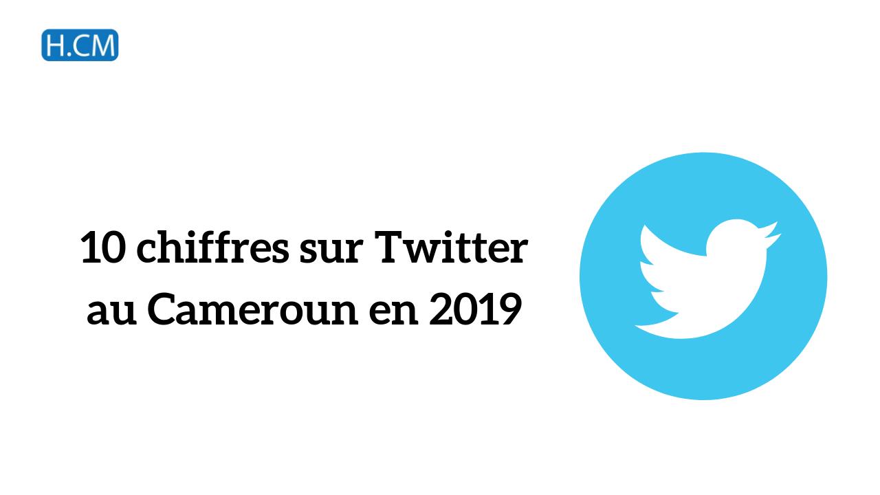10 chiffres sur Twitter au Cameroun en 2019