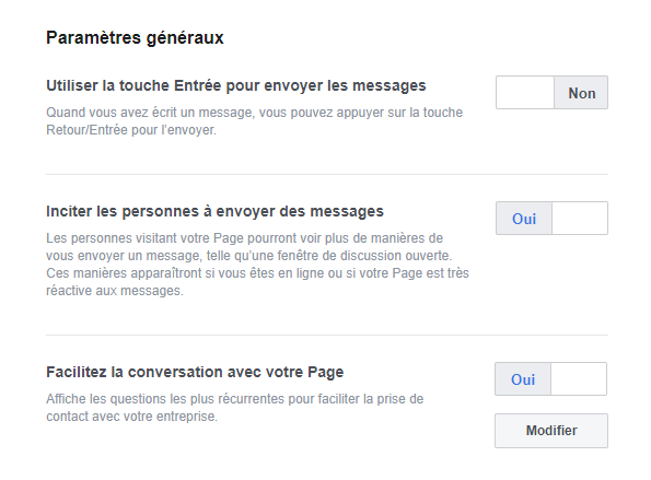 Guide Messagerie Page Facebook 2