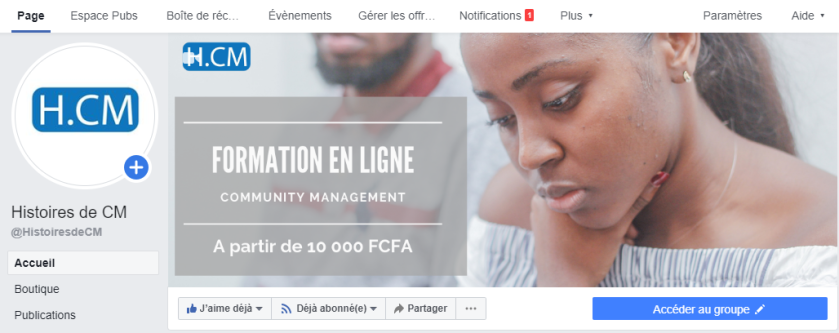 Guide Messagerie Page Facebook
