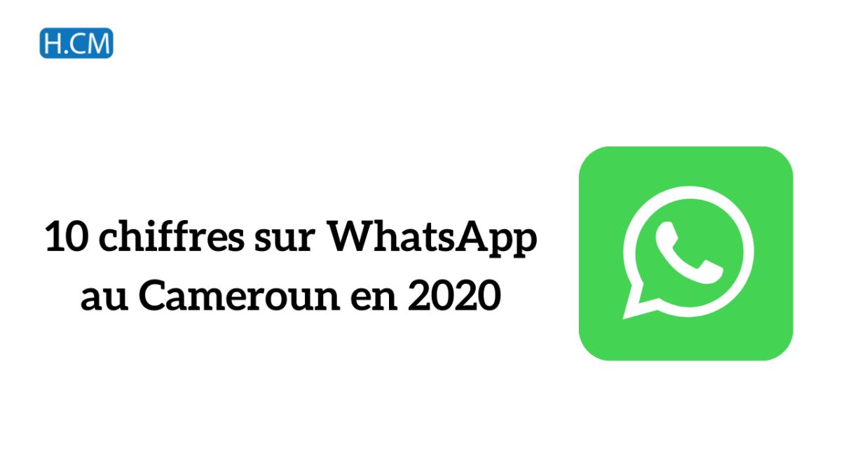 [Etude] Chiffres WhatsApp 2020 auCameroun